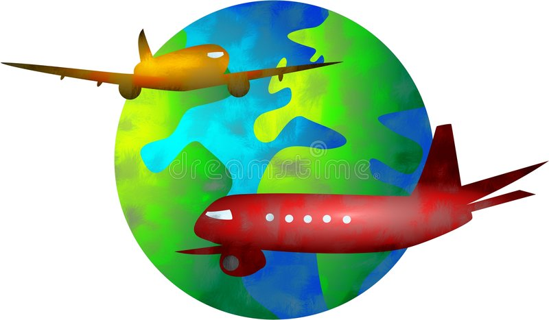 Monde de vol illustration stock