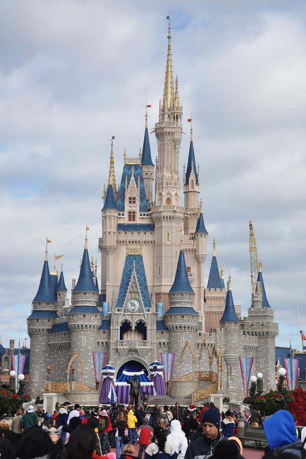 Monde de Walt Disney de château de Disney Cendrillon photo libre de droits