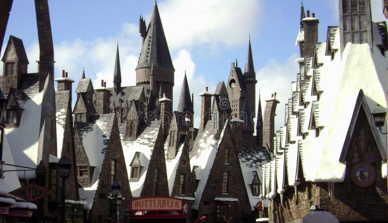 Monde de Wizarding de Harry Potter image libre de droits