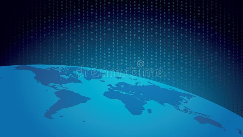 monde digital illustration de vecteur