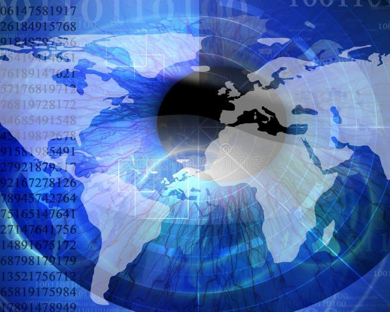 Monde digital abstrait illustration libre de droits