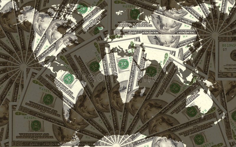 Monde du dollar photo libre de droits