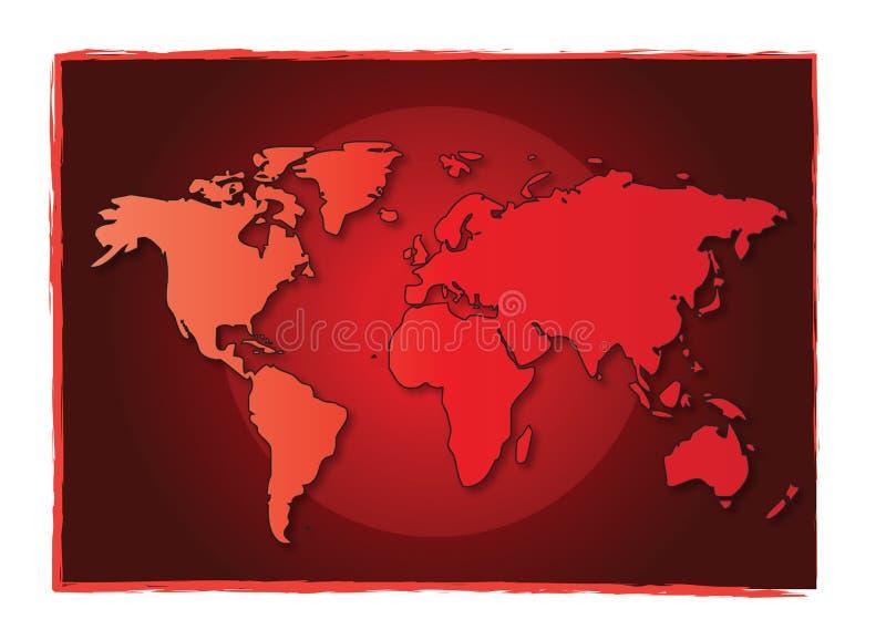 monde encadré de carte illustration libre de droits