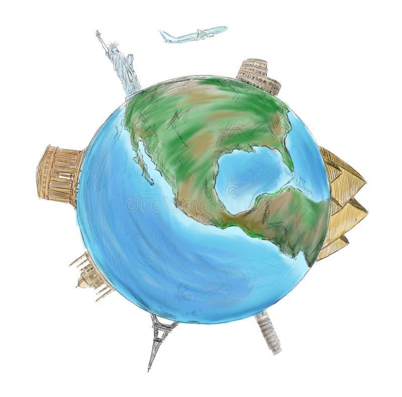 Monde entier illustration de vecteur