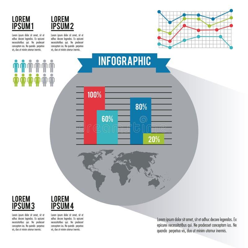 Monde entier d'Infographic illustration libre de droits
