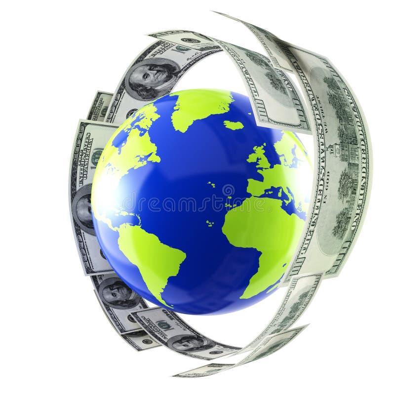 Monde et argent illustration libre de droits