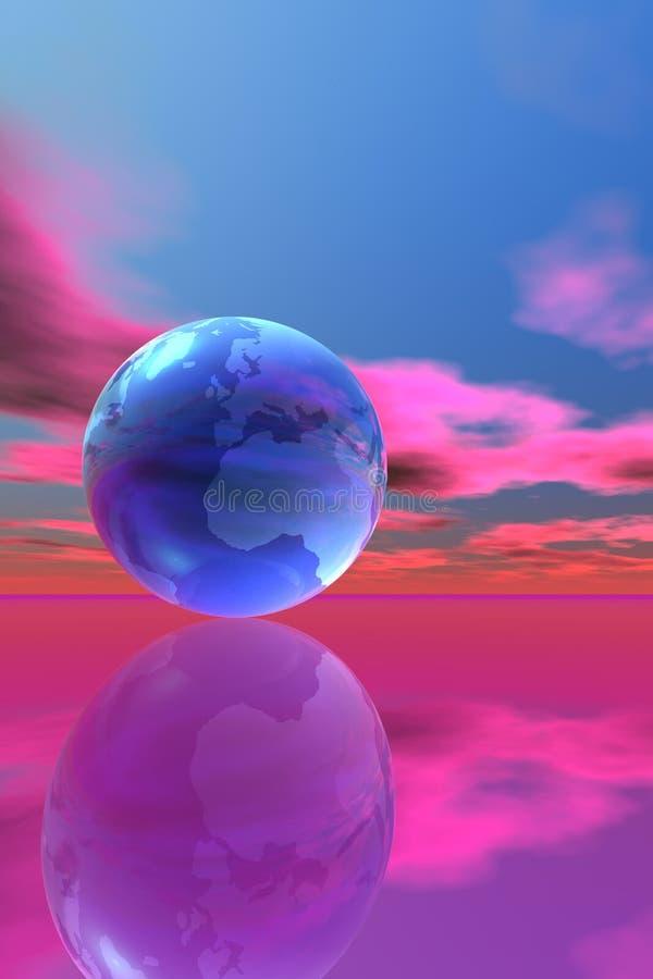 Monde et ciel illustration stock