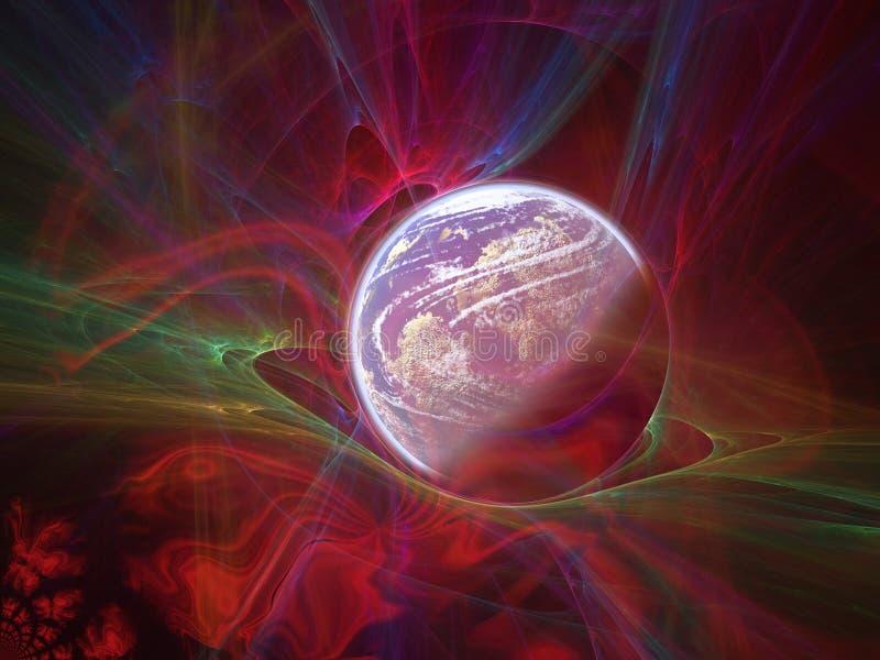 Monde et ciel illustration libre de droits