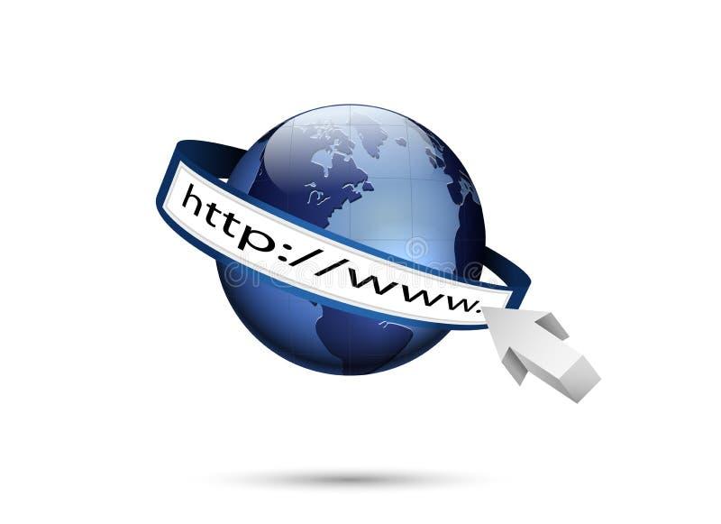 Monde et http://www, technologie globale d'Internet illustration libre de droits