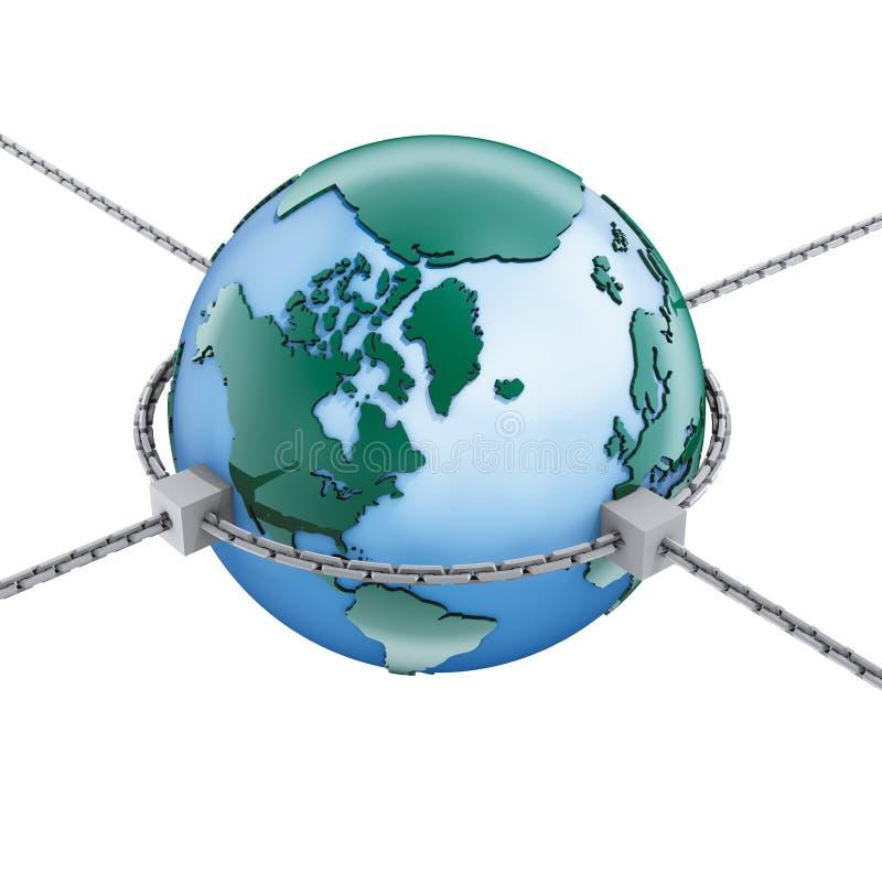 Monde et réseaux illustration de vecteur