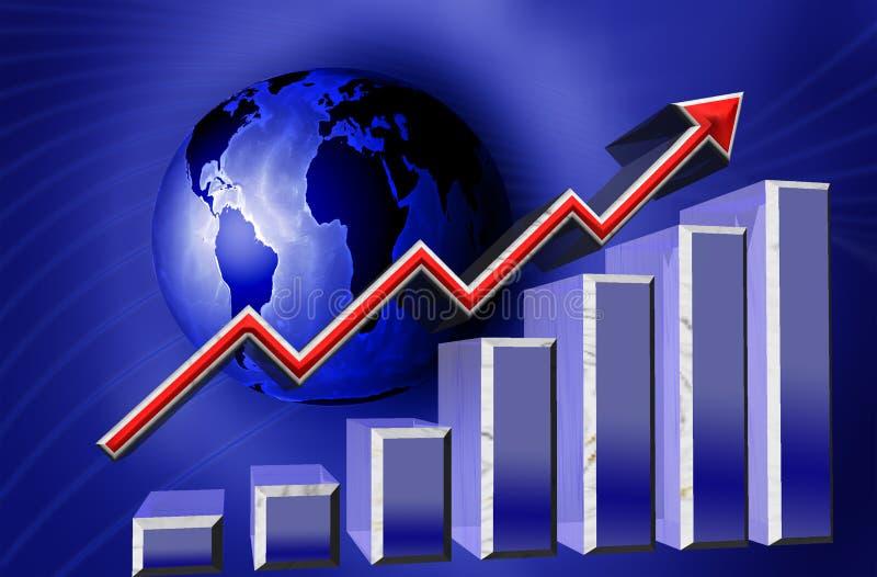 Monde financier de graphique illustration stock