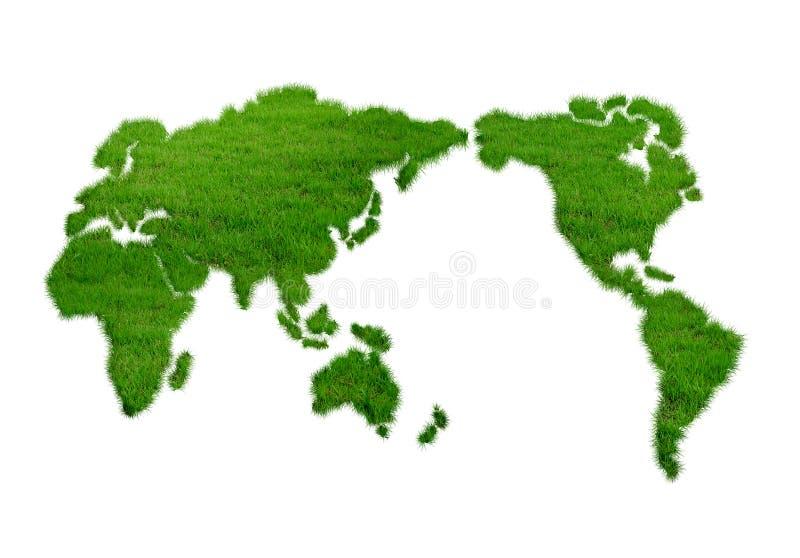 Monde, herbe, verte illustration stock