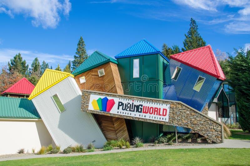 Monde incompréhensible qui est situé à l'île du sud au Nouvelle-Zélande photo libre de droits