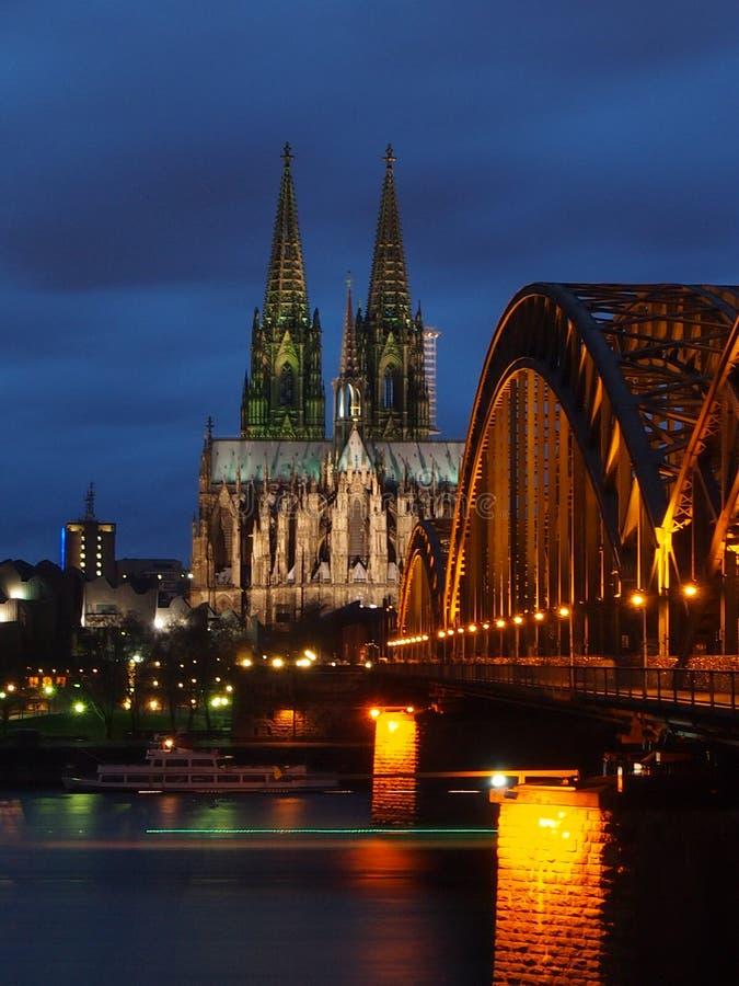 monde international de l'UNESCO de site de borne limite d'héritage célèbre de l'Allemagne de cologne de cathédrale photographie stock libre de droits