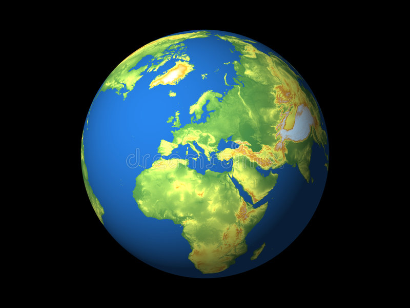 Monde, l'Europe illustration de vecteur