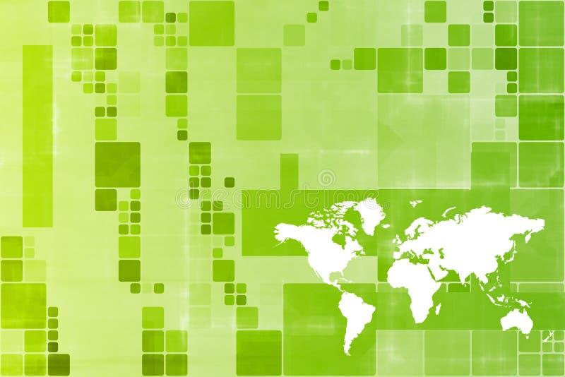 monde large d'affaires de descripteur abstrait de vert illustration stock