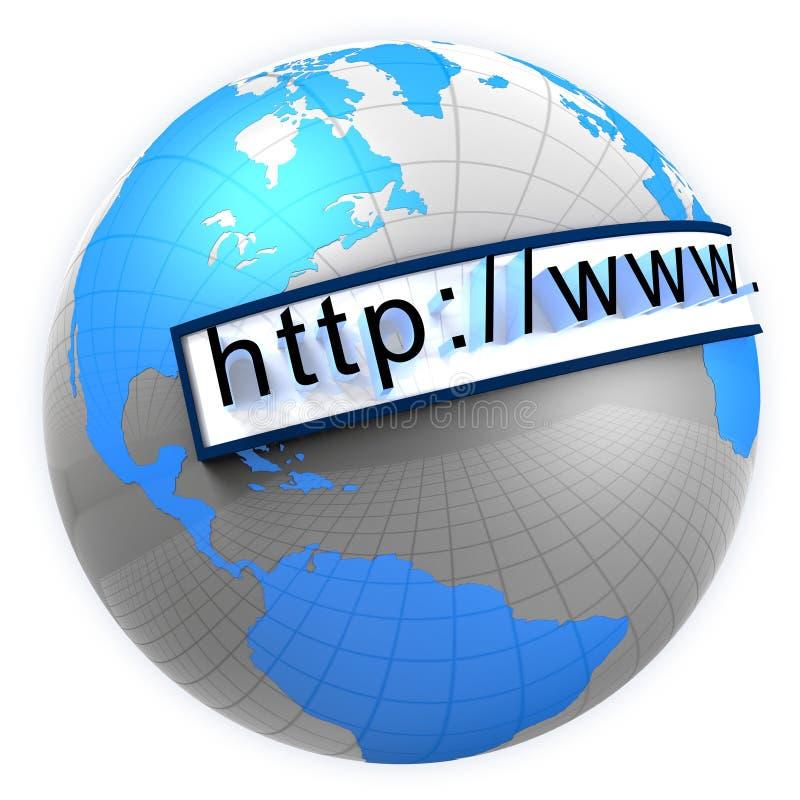 Monde large de Web illustration de vecteur