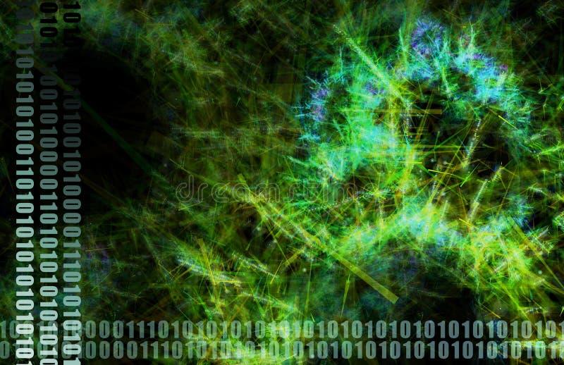 monde large de Web vert abstrait illustration stock