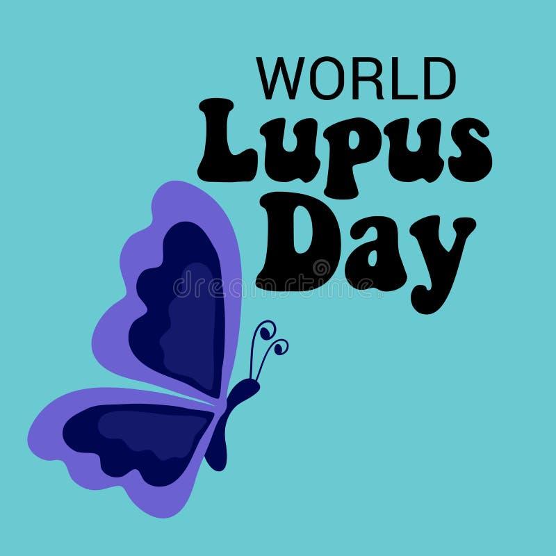 Monde Lupus Day illustration stock