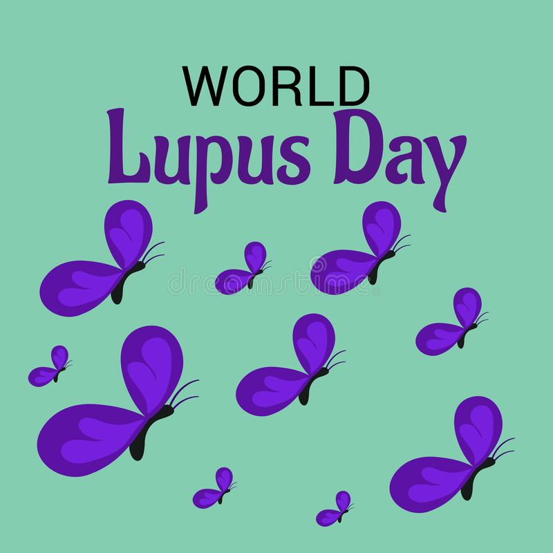 Monde Lupus Day illustration de vecteur
