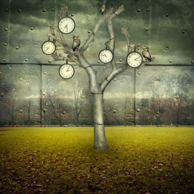 Monde mécanique de temps illustration libre de droits