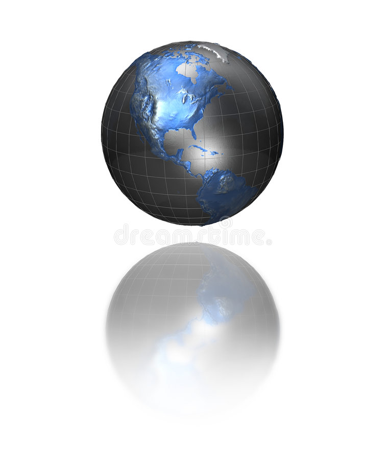 Monde métallique illustration de vecteur