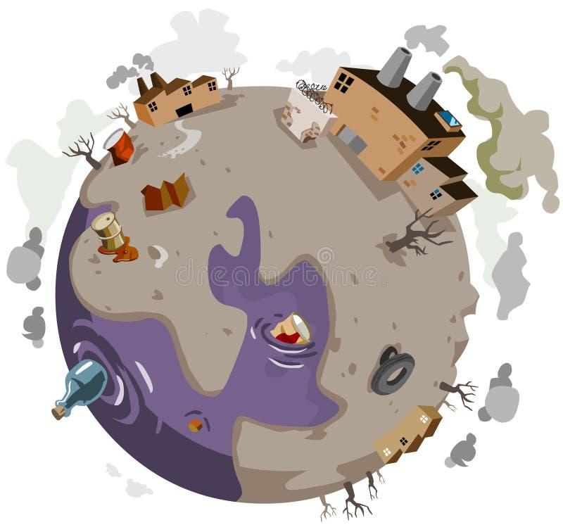 Monde malade illustration de vecteur