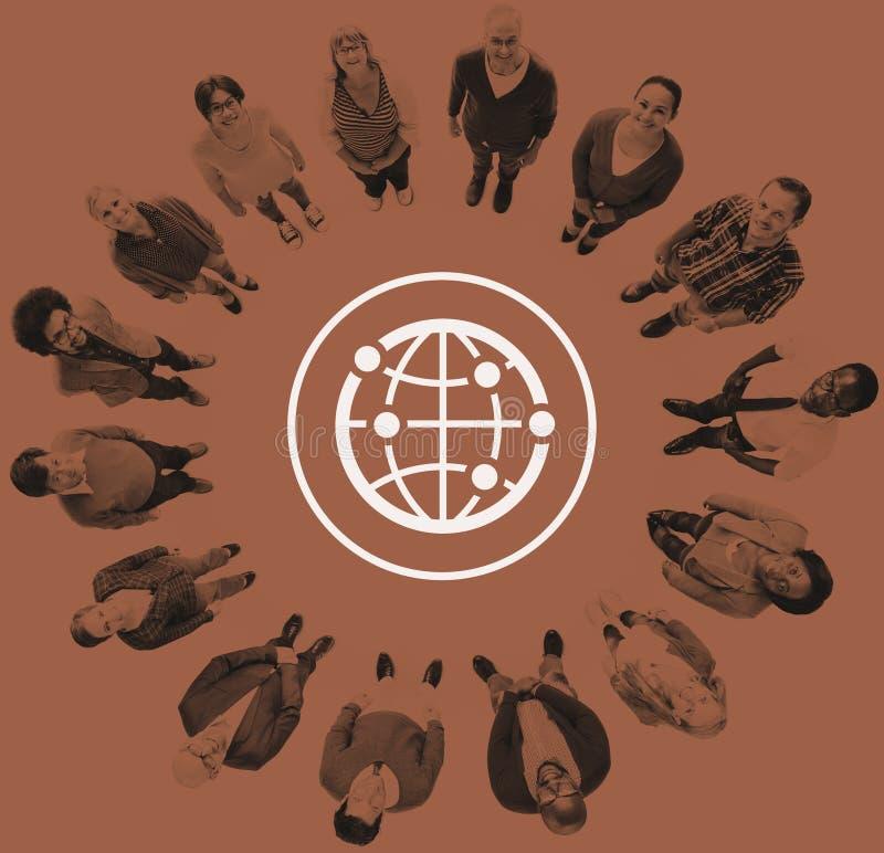 Monde mondial international de la Communauté globale relié illustration de vecteur