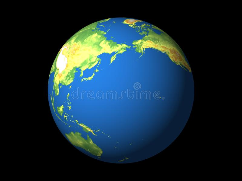 Monde, Pacifique images libres de droits
