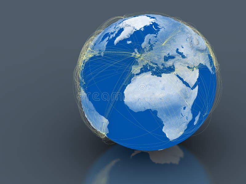Monde relié illustration de vecteur