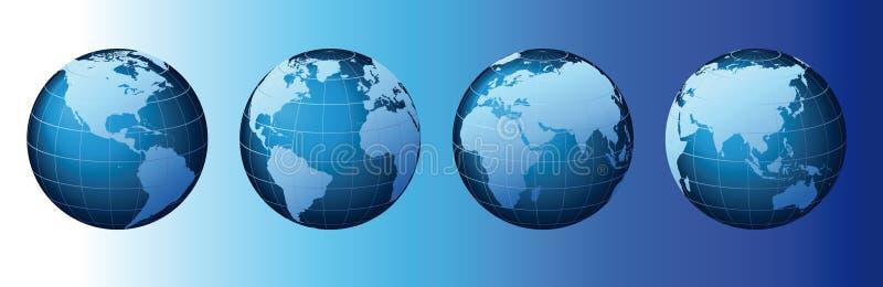 Monde - série globale de positionnement - vecteur illustration de vecteur