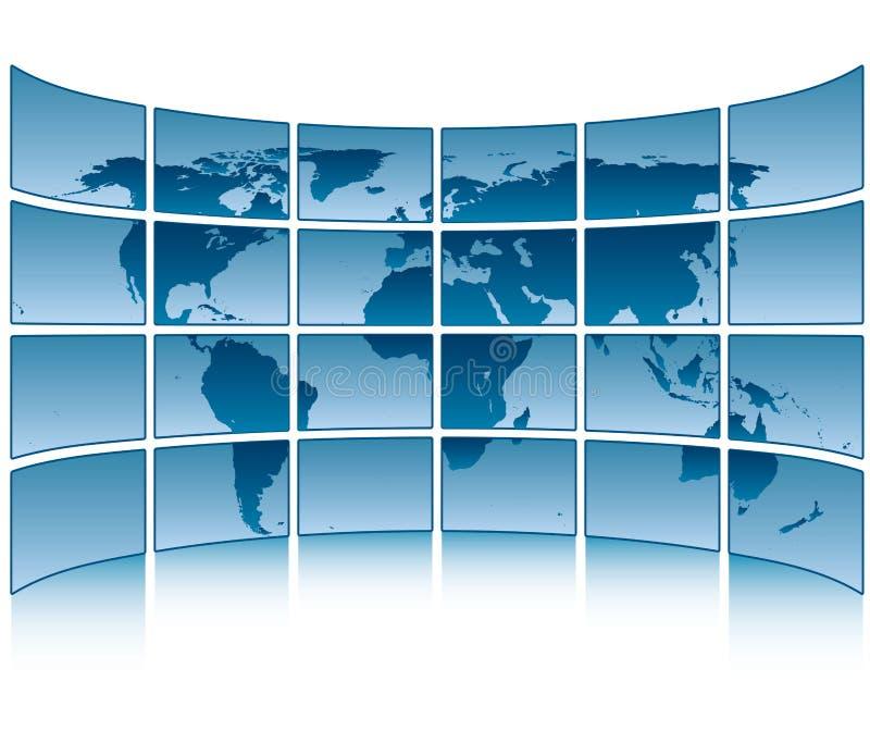 Monde sur des écrans illustration de vecteur
