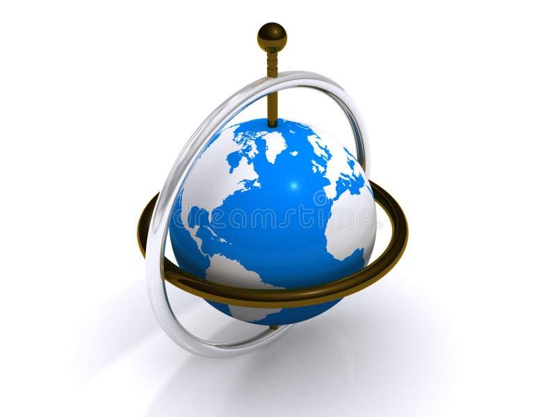 Monde sur l'axe illustration libre de droits