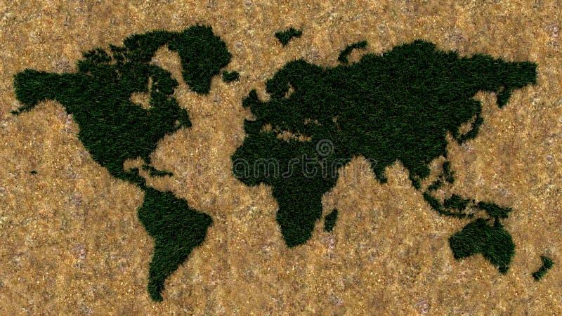 Monde vert images stock