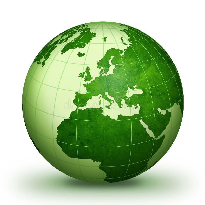 monde vert illustration stock