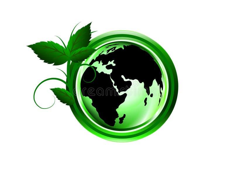 Monde vert par des personnes image stock