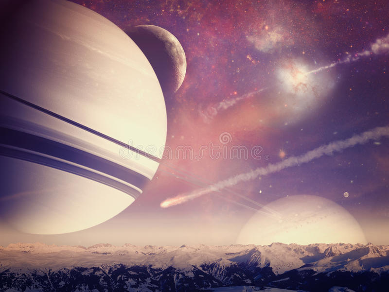 Mondes étrangers Univers illustration stock