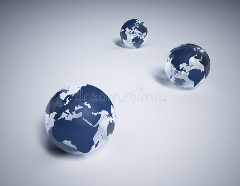 Mondes sur la glace au sol d'â illustration stock
