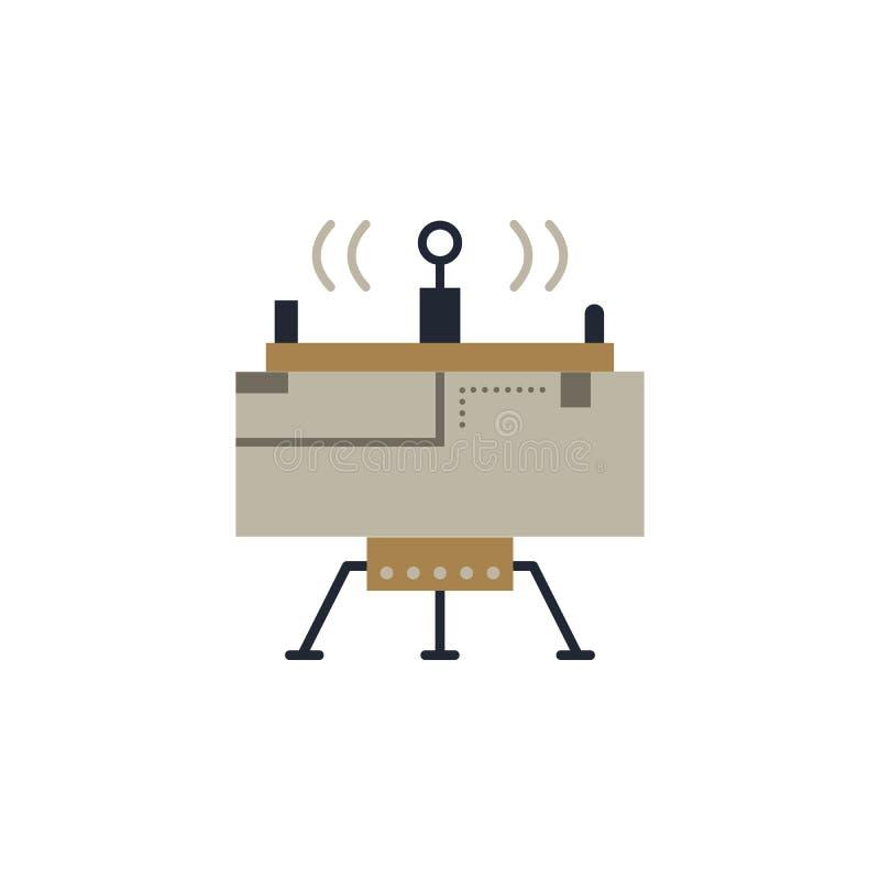 Mondfähre farbige Ikone Element der Raumillustration Zeichen und Symbolikone können für Netz, Logo, mobiler App, UI, UX benutzt w lizenzfreie abbildung