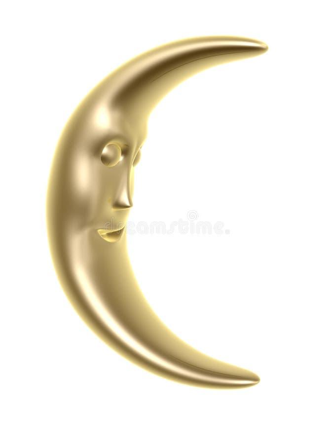 Mondgesicht stock abbildung