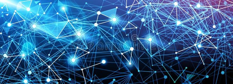 Mondiaal Digitaal Net stock illustratie
