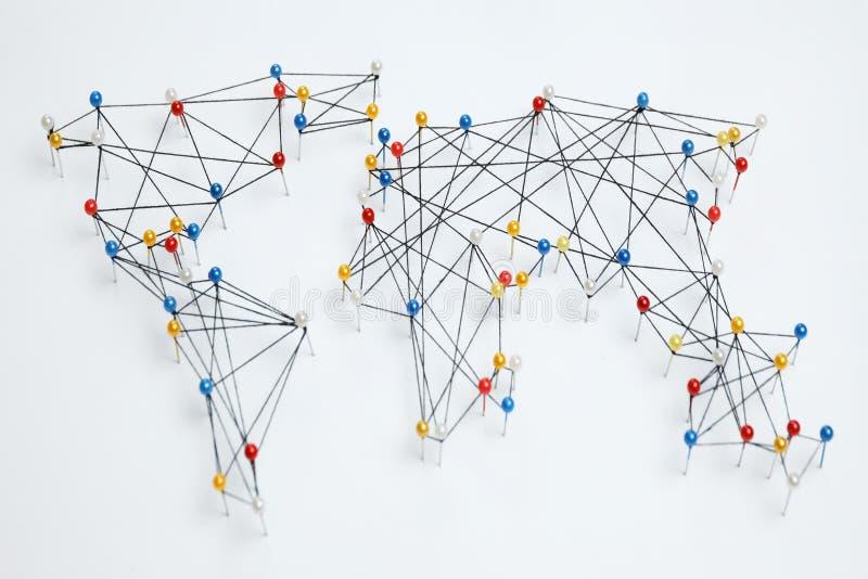 Mondiaal handelnet, internationale zaken stock fotografie