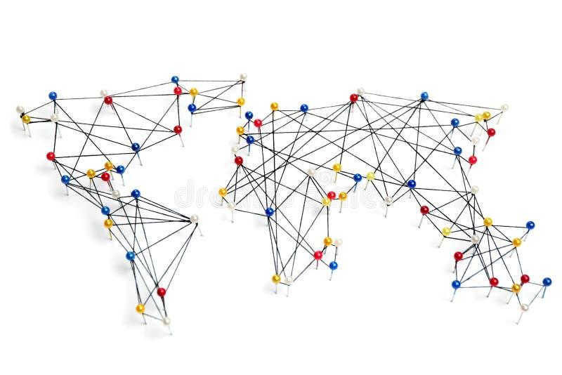 Mondiaal handelnet, internationale zaken stock afbeeldingen