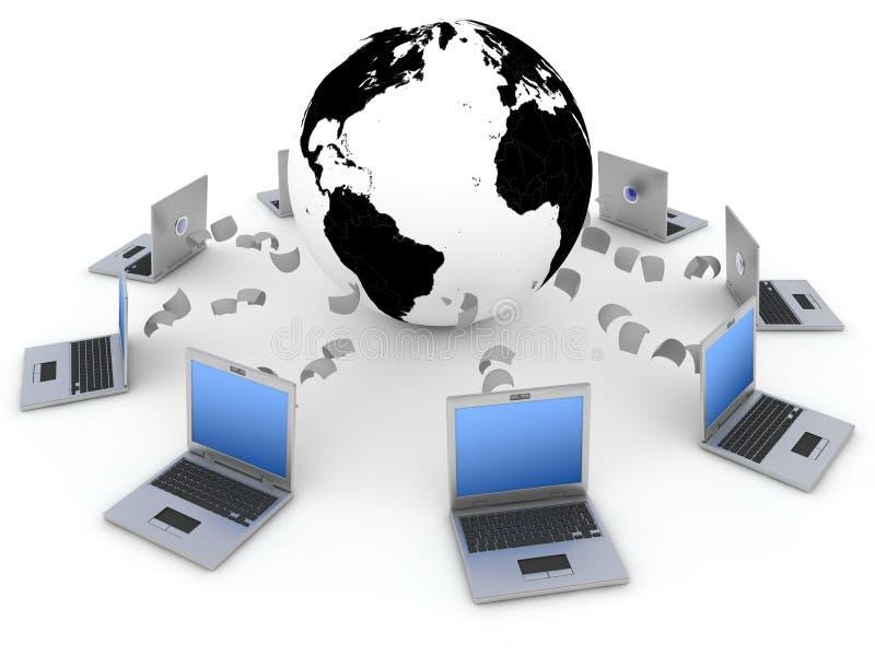Mondiaal net stock illustratie