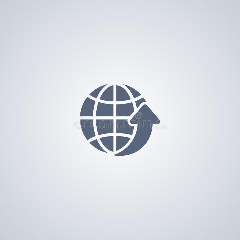 Mondiaal net, globale download, vector beste vlak pictogram vector illustratie