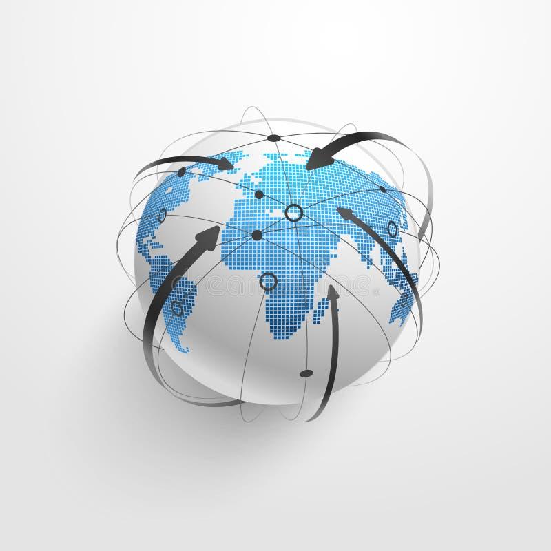 Mondiaal Net Vector stock illustratie