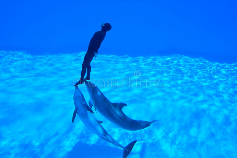 Mondial Record In Freediving - Simone Arrigoni Royalty Free Stock Photography