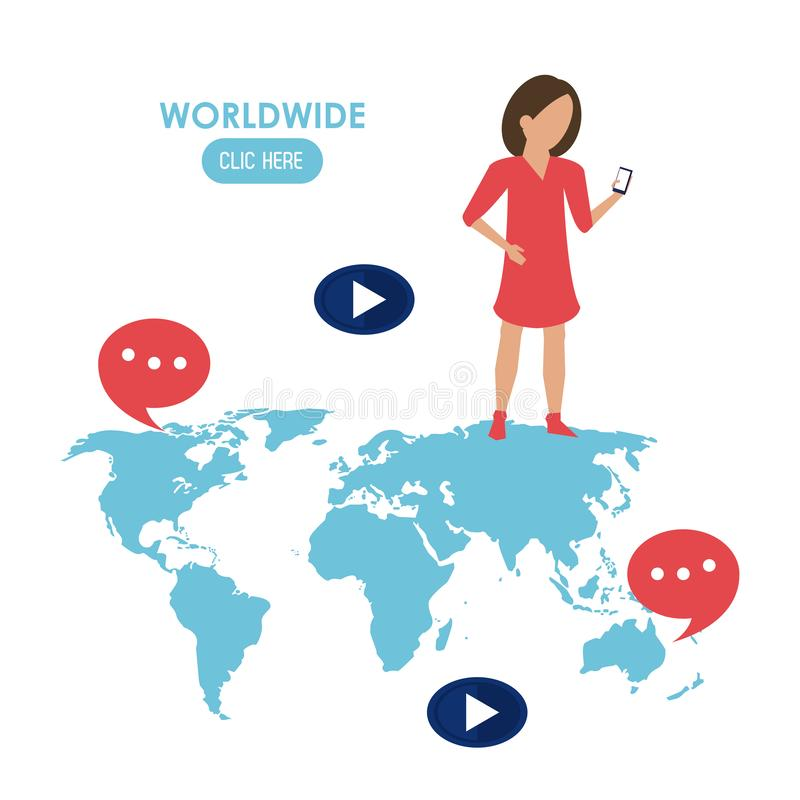 Mondiale clicchi qui royalty illustrazione gratis