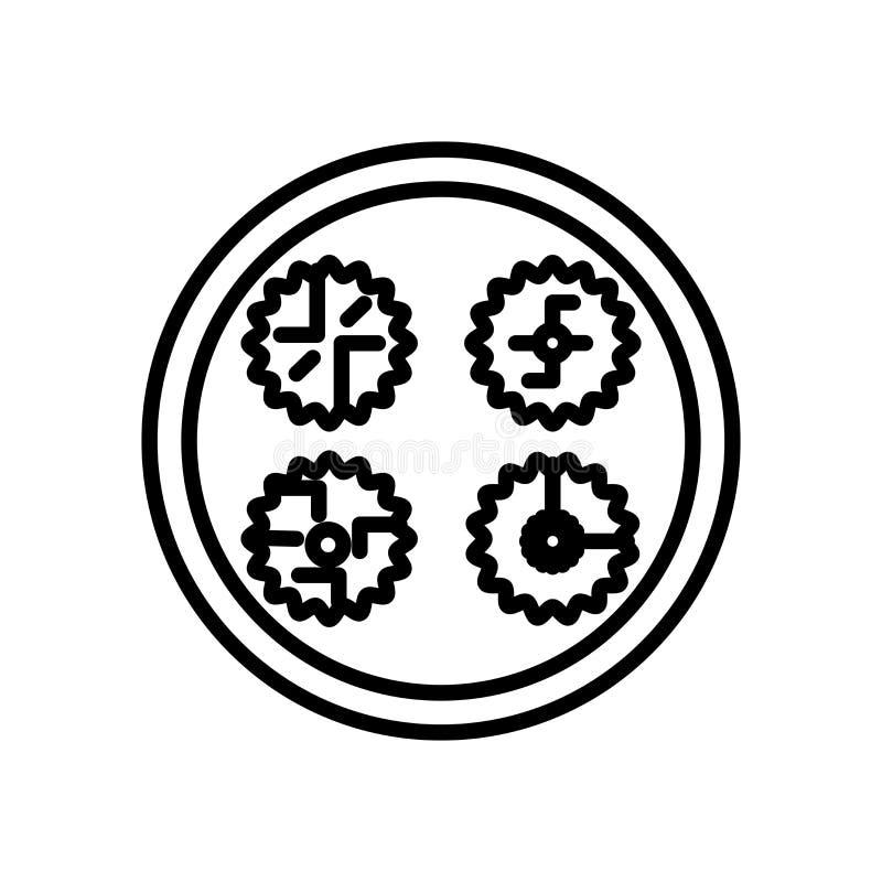 Mondkuchen-Ikonenvektor lokalisiert auf weißem Hintergrund, Mondkuchenzeichen lizenzfreie abbildung