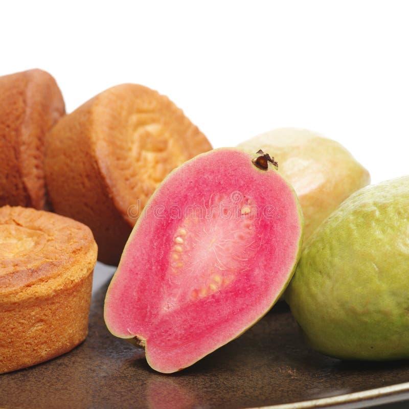 Mondkuchen und -guave lizenzfreie stockfotos